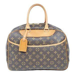 Auth Louis Vuitton Monogram Deauville Boston Bag